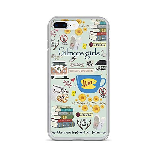 Gilmore Girls Cliparts iPhone 7 Plus/8 Plus Case - Inspired by Gilmore Girls TV Series, Stars Hollow, Mother's Day, Father's Day Present, Gift Idea for Die-Hard Fans (Girls Of Clipart)