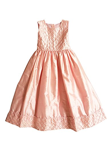 - Strasburg Children Girls Easter Silk Party Dress Ball Gown Pink Flower Girl Dress (7, Pink)