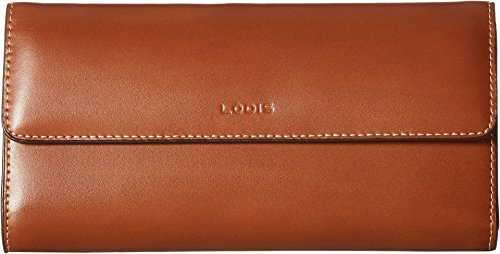 Italian Leather Checkbook Wallet (Lodis Audrey RFID Checkbook Clutch Wallet (Sequoia/Papaya))