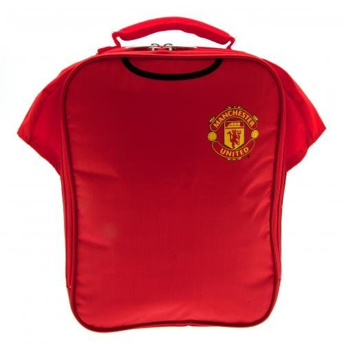 Manchester United F.C. Kit Lunch Bag- Shirt Shape Lunch Bag With Name Tag 29Cm X 24Cm X 7Cm