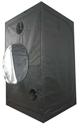 """41b2fi0kOPL - Ipomelo 48""""x48""""x80"""" 600D Mylar Hydroponic Grow Tent with Floor Tray for Indoor Plant Growing 4'x4'"""