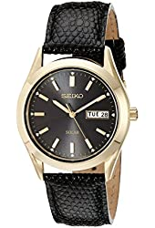 Seiko Men's SNE054 Stainless Steel Solar Watch
