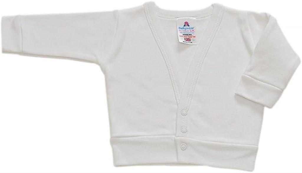 BabywearUK White Baby Cardigan British Made