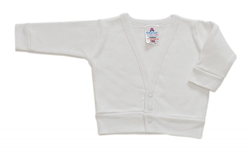 BabywearUK White Baby Cardigan British Made