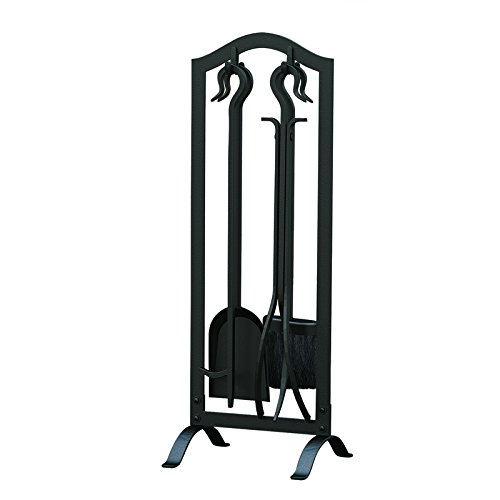 Panacea 15001 Wrought Iron Fireplace Toolset, Black, Pack of 5