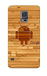 ByRoMtT4075qcPZI New Premium Flip Case Cover Wooden Android And Google Skin Case For Galaxy S5 As Christmas's Gift