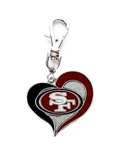 Heavens Jewelry SAN Francisco 49ERS Charm Football Team Heart Charm ADD to Zipper Pull PET Dog CAT Collar TAG Leash - Tag 49ers Dog