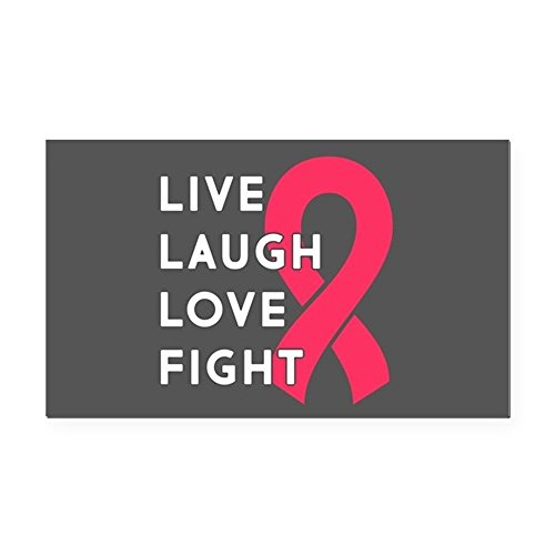 CafePress - Live Laugh Love Fight - Rectangle Car Magnet, Magnetic Bumper Sticker