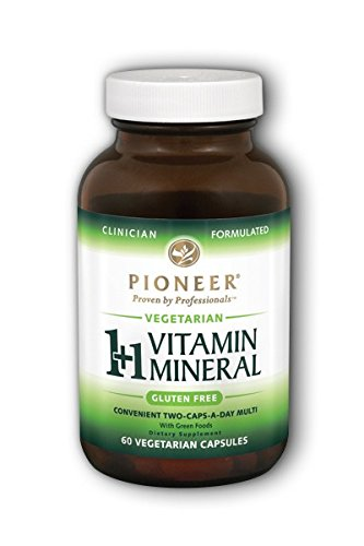 1 + 1 Vitamin Mineral, Veg Gluten Free Pioneer (Verified Gluten Free) 60 VCaps For Sale