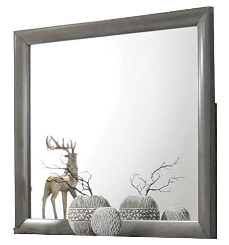- ACME Furniture  Ireland Mirror, Gray Oak