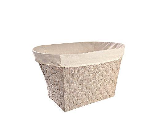 LaMont Home PW7640133 Linden Oval Basket, Linen/Natural (Bon Oval Basket)