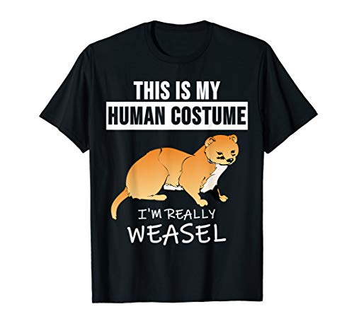 (Weasel Shirt Funny Wild Animal Costume Pet Ferret Tee)