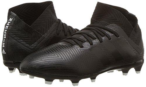 adidas Unisex Nemeziz 18.3 Firm Ground Soccer Shoe, Black/White, 5.5 M US Big Kid by adidas (Image #6)