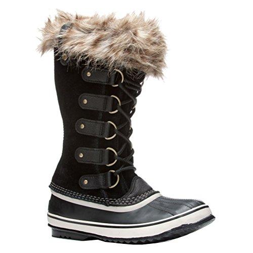 (Sorel Women's Joan of Arctic Boot, Black, Stone, 8 M US)
