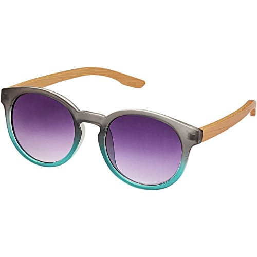Blue Planet Eyewear Elysse JR Sunglasses - Girls' Frost Smoke To Frost Turquoise, One - Planet Sunglass