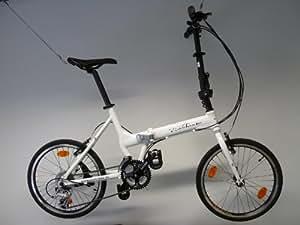 Edelweiss R3 - Bicicleta plegable, color blanco