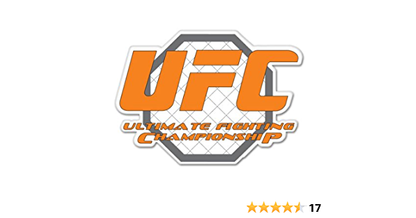UFC Ultimate Fighting Championship Red Vinyl Die Cut Car Decal Sticker 4 x 1.5