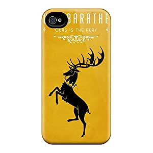 Apple Iphone 4/4s Pda19453xPOQ Provide Private Custom Vivid Game Of Thrones House Baratheon Pictures Shockproof Hard Cell-phone Cases -WandaDicks