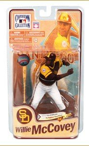 (McFarlane Cooperstown Collection Series 8 MLB Willie McCovey 1976 San Diego Padres Road Brown Outfit Baseball Player Action Figure (McFarlane Collector Level Silver - Only 750 Made))