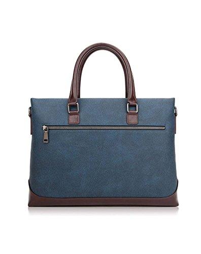 Männer Hand Schulter Messenger Bag Business Casual Männer Tragen Licht Mode Computer Tasche,Blue-38*28.5*6cm