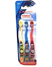 Thomas the Train & Friends Soft Toothbrushes 3 Pack Brush Buddies (Blue, Yellow, Red)