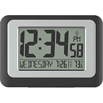 better homes and gardens digital clock with indoor temperature. beautiful ideas. Home Design Ideas