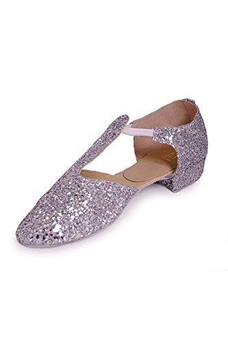 Roch Valley GGS - Zapatillas de baile con purpurina plata - plata