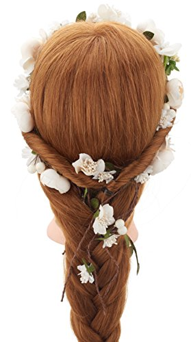 Ivory Rose Floral - Vintage Flower Hair Vine Flower Crown Tiaras - Diy Hair Accessories For Wedding Festivals