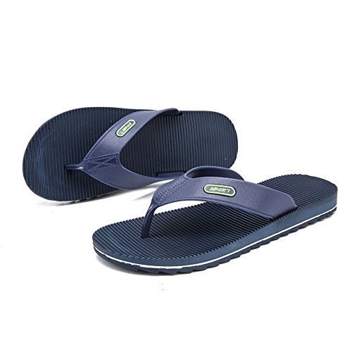 spiaggia all'usura skid 42 da uomo Jiuyue Dimensione Wind Casual Color Nero New Flip Outdoor flop Stripes Anti resistenti shoes da uomo Scarpe EU Blu Sandali da x7waqOxv