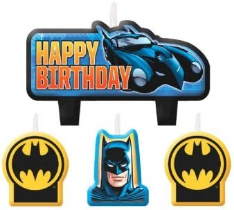 Amazon.com: Batman – Vela de cumpleaños 4 CT: Kitchen & Dining