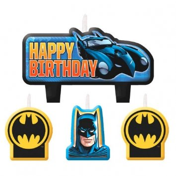Batman Birthday Cake - Batman Birthday Candles - 4 ct