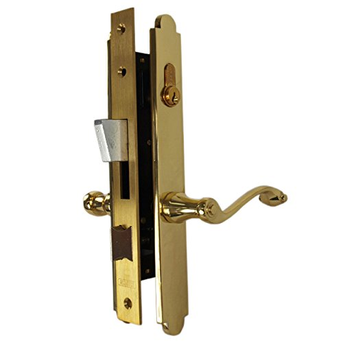 Marks 2750C Polished Brass US3 Mortise Entry Lever Double Cylinder Thinline Right Hand Plate Trim Lock Set for 1