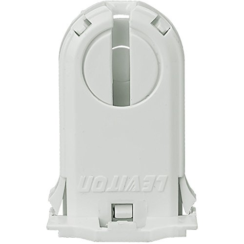 Leviton 13660-SNP Fluorescent Lampholder, T8/Xxx Medium Bi-Pin, Turn Type with Lamp Lock, 30mm Height, Lamp Center Snap-On by Leviton (Image #1)