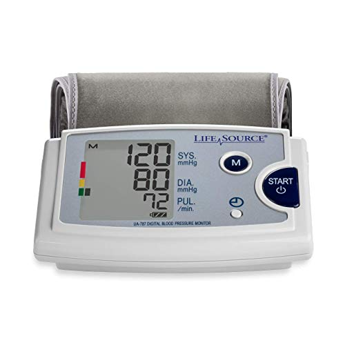 Pressure Inflate Monitor Blood (LifeSource Premium Blood Pressure Monitor with Pre-Formed Upper Arm Cuff (UA-787EJ))