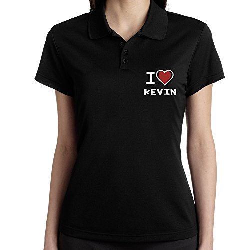 Teeburon I love Kevin - Polo Femme