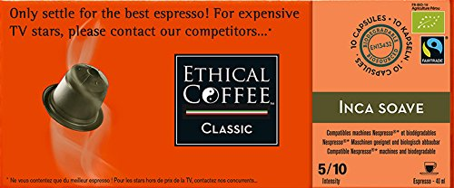 Nespresso® Compatible Coffee Capsules by ETHICAL COFFEE- BALANCED PACK - 50 Capsules