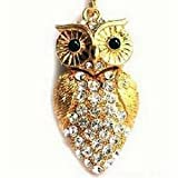 4 Gb owl Shape Crystal Jewelry USB Flash Drive Necklace -golden