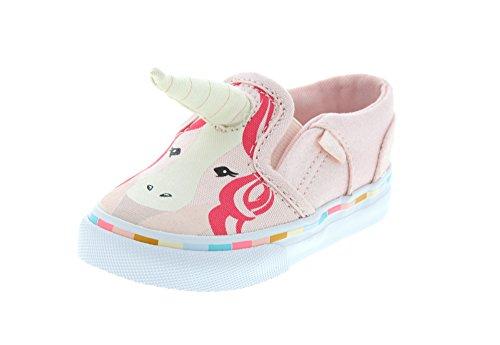 Vans Little Girls Asher V Pink Unicorn (7.5 Toddler)]()
