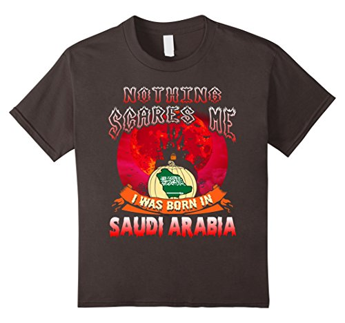 Kids Nothing Scares Me I Was Born In Saudi Arabia Halloween Shirt 10 (Saudi Arabia Halloween Costume)