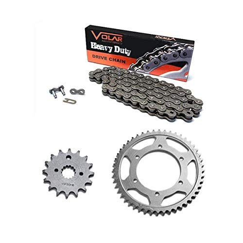 Volar Chain and Sprocket Kit - Heavy Duty for 2004-2013 Honda CRF80F by Volar Motorsport, Inc