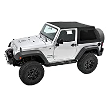 Pavement Ends by Bestop 5684235 Black Diamond Frameless Sprint Top for Jeep Wrangler 2-Door