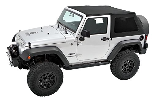 Pavement Ends by Bestop 56842-35 Black Diamond Frameless Sprint Top for 2010-2017 Jeep Wrangler 2-Door