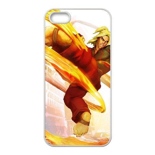 Street Fighter V 11 coque iPhone 5 5s cellulaire cas coque de téléphone cas blanche couverture de téléphone portable EEECBCAAN02766
