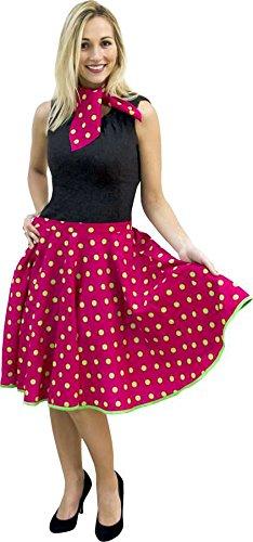 Falda rock n roll-fular, color rosa diseño ecológico-3 en t 1 ...