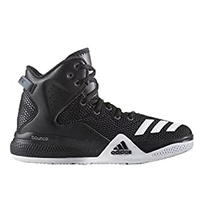 adidas Originals Men's DT Bball Mid Basketball Shoe, Black/White/Dark Shale, 11 M US