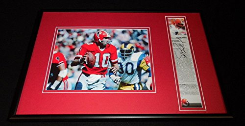 Steve Bartkowski Signed Framed 12x18 Photo Display Atlanta Falcons
