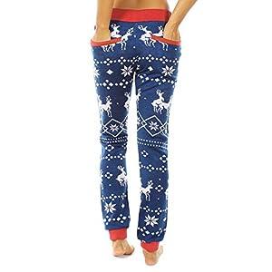 Mumustar Christmas Women Trousers Snowflakes Printed Sweatpants Drawstring Casual Sports Yoga Pants Home Lounge Pants…