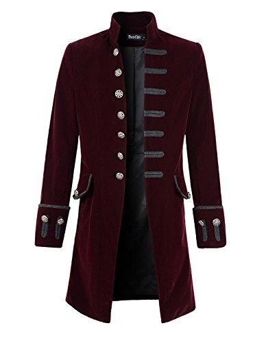 (DarcChic Mens Velvet Goth Steampunk Victorian Frock Coat (XXXL,)