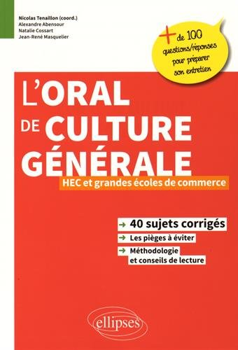 l'Oral de Culture Générale HEC et Grandes Écoles de Commerce