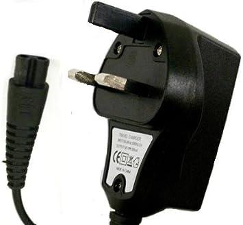 3 pin Reino Unido cargador para afeitadora eléctrica Philips HQ8500